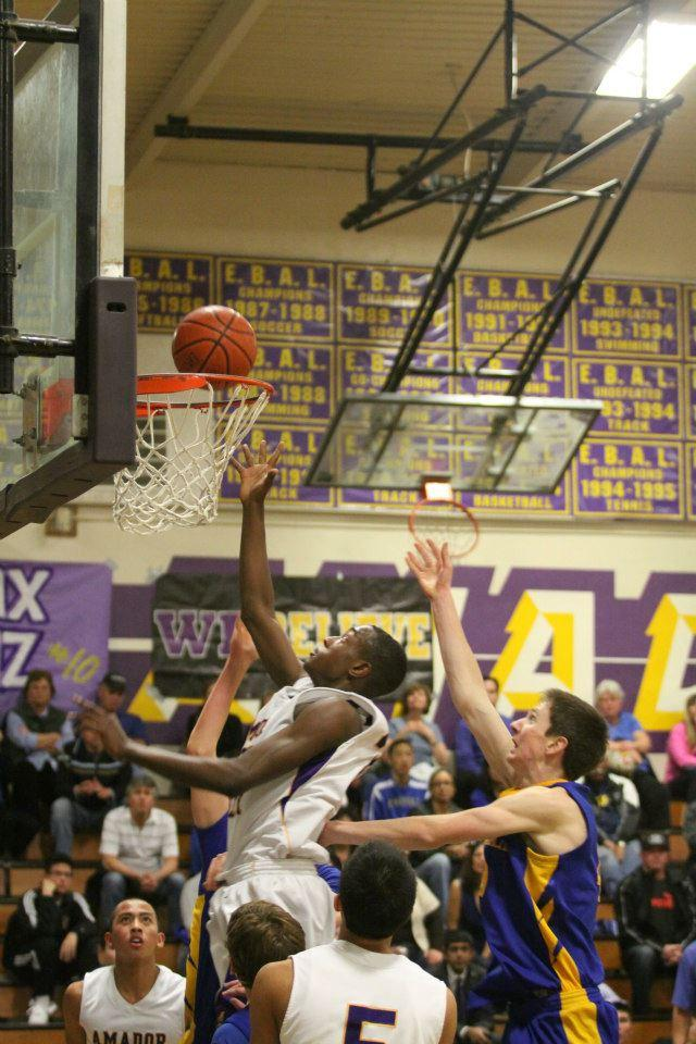 Junior Stokley Chaffee shoots in last year's foothill basketball game.