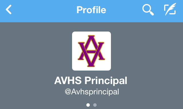 The+twitter+account+of+AVHS+Principal