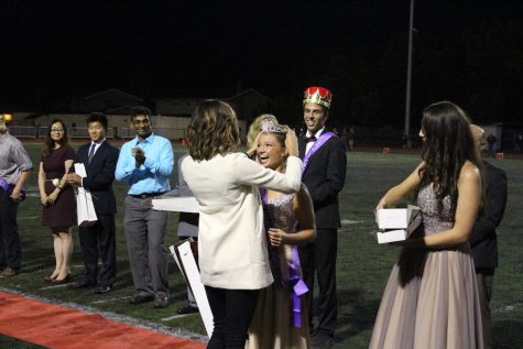 I don't think she expected to be crowned by a celebrity!
