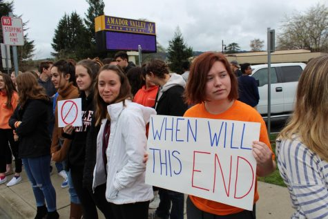 Amador Students Join Movement Across Country to Protest for Gun Control