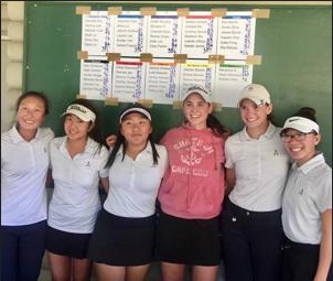 AVHS Girls Golf Team Wins EBAL Tournament