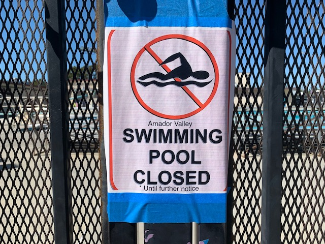 Amador Pool Closed Indefinitely
