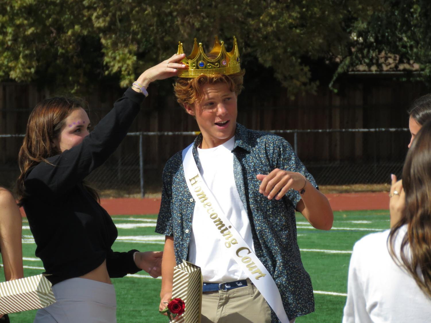 Evan Grell named to Freshman Hoco Court!