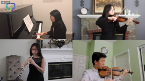 Music4Heart preformed spectacularly from  their own homes in their April virtual concert.