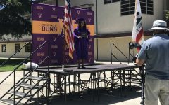 Amador holds a drive-though graduation for seniors to say goodbye