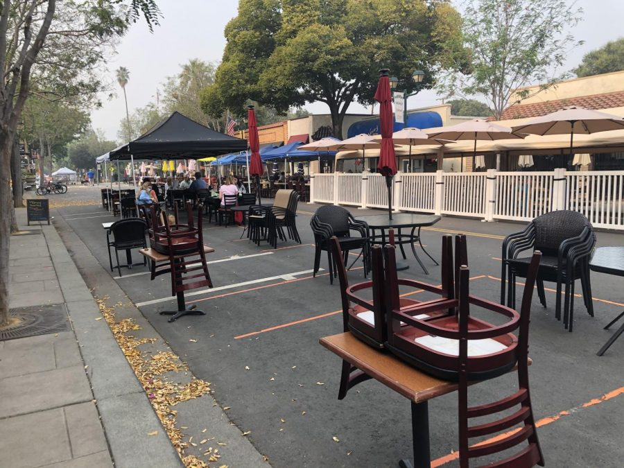 Many restaurants of downtown Pleasanton can now offer outdoor dining for their customers.