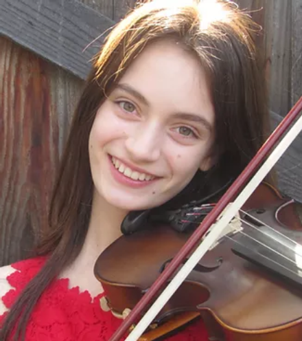 Lucie Bernard has been playing the violin since fifth grade. Last December, she was accepted into CODA (California Orchestra Directors Association's Honors String Orchestra) at UC Santa Cruz.