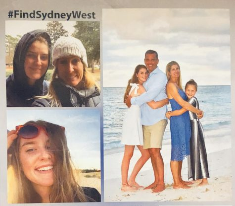 Sydney West was last spotted wearing black leggings, a teal hoodie, dark green and black Vans and with her hair in a bun.