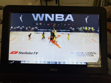 A look at the tip-off of the 2020 Championship game between the Seattle Storm and the Las Vegas Aces.