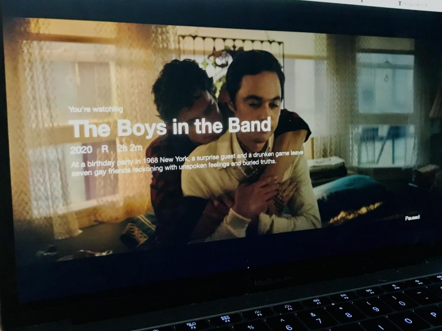 The Boys in the Band tells the story of a gathering of gay men interrupted by a visitor.