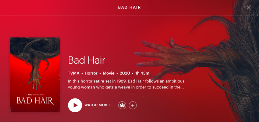 Bad Hair was released on October 16 on Hulu.
