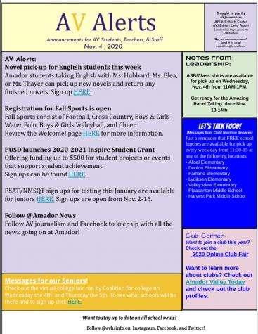 AV Alerts 11-4-20
