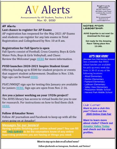 AV Alerts 11-10-20