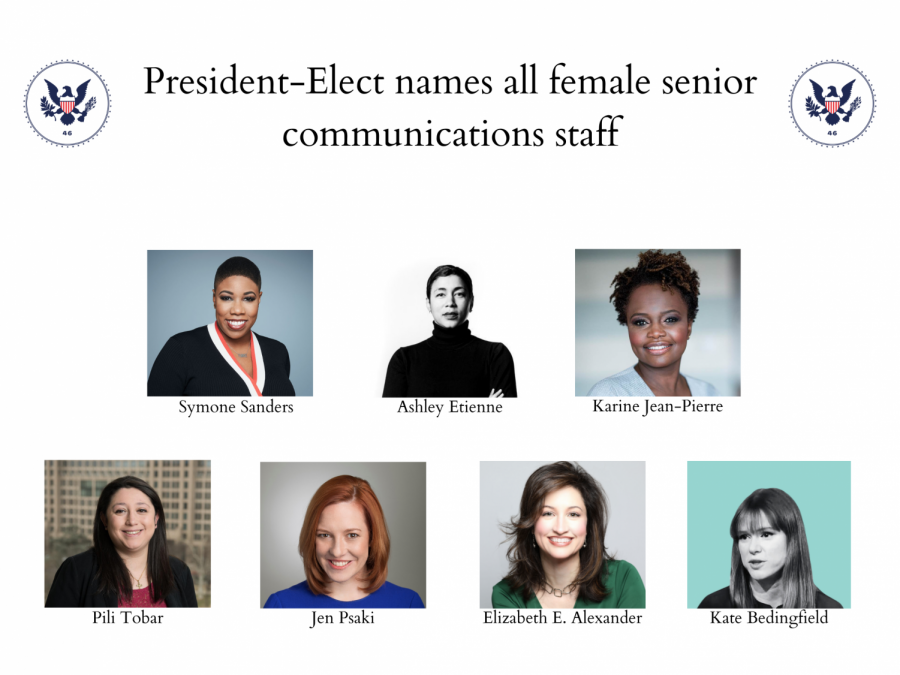 Biden's all-female communication staff is a record-breaking group in the American government.
