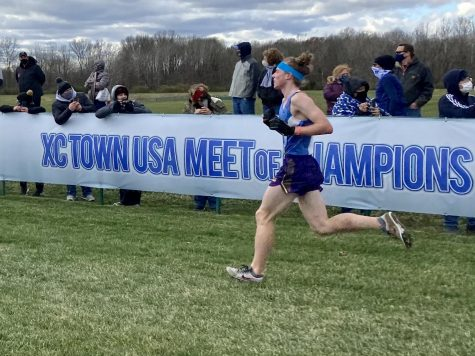 Euan Houston runs the XC Town Meet of Champions in Indiana.