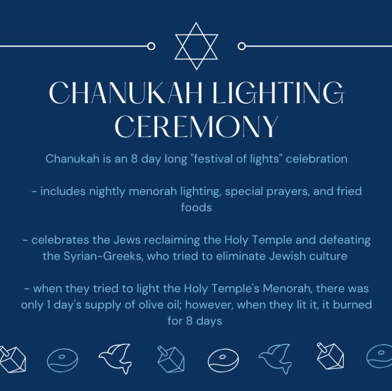 Drive-in menorah lighting ceremony