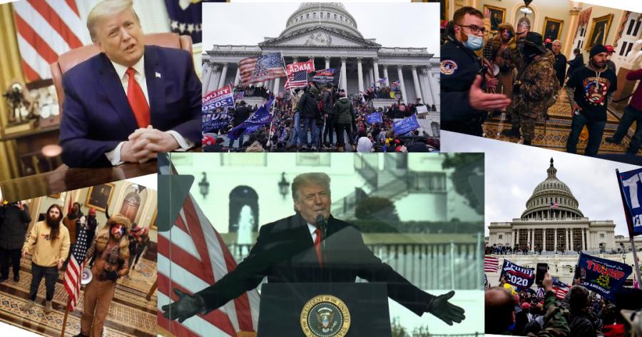 Trump deflects captiol invasion blame