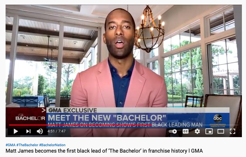 'The Bachelor' will feature the first black 'bachelor' Matt James