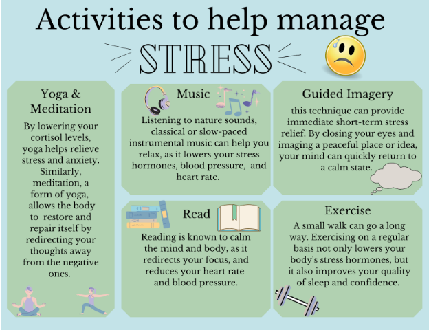 Engaging in relaxing activities can help students work through emotions of confusion and unease.