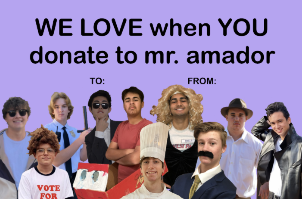 For Valentine's Day, the Mr. Amador program delivered grams to friends, family, and neighbors.