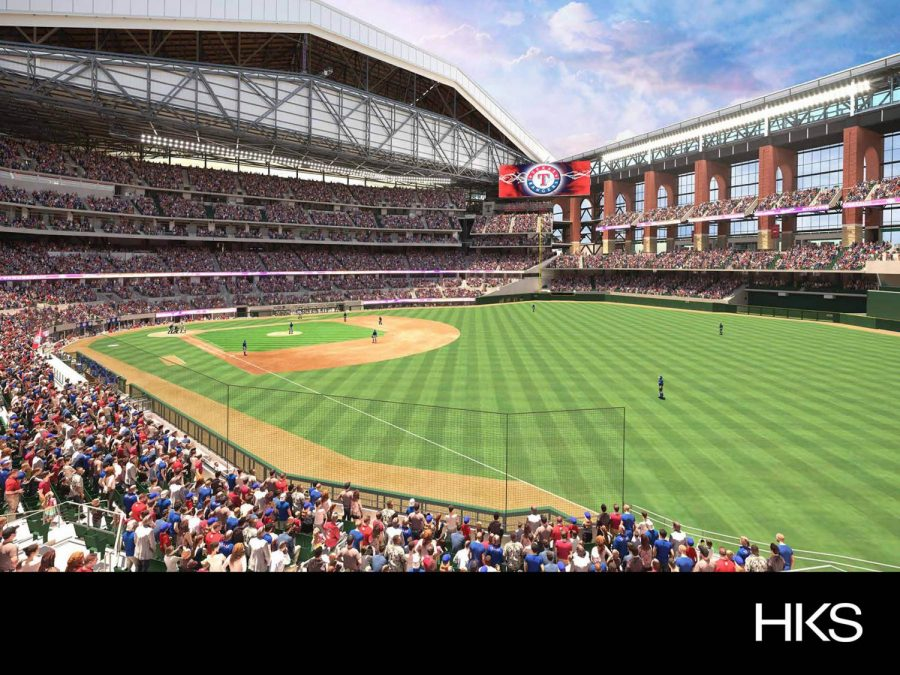 The Globe Life field in Arlington, Texas can seat up to exactly 40,300 people.