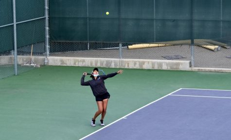 Knowing that focusing on the ball is key to tennis, Kruthika Gowda (