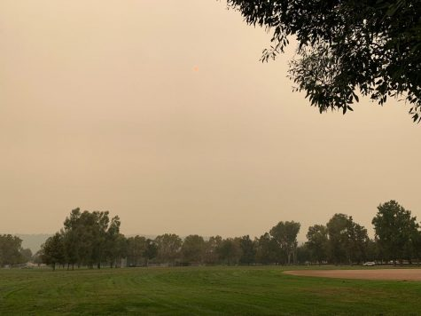 Forest fires, an effect of human caused global warming, resulted in heavy smoke around California in September.