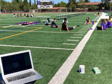 A LINK meeting takes place both in person on the field and through virtual Zoom sessions.