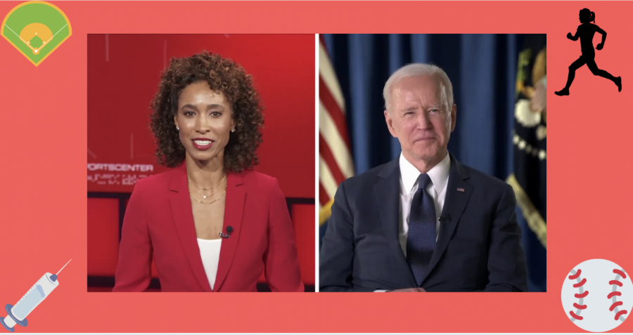 A recent interview with ESPN and Biden discussed topics like vaccinations, professional sports, and the MLB All-Star game.