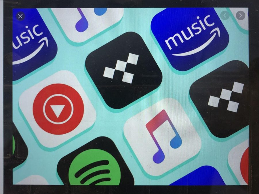 Popular music streaming services include Spotify, Apple Music, Amazon Music, and Youtube Music.