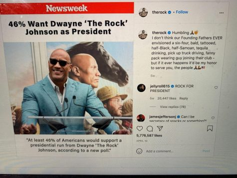 Dwane Johnson recently has been in the news, with many people pushing him towards important political office.