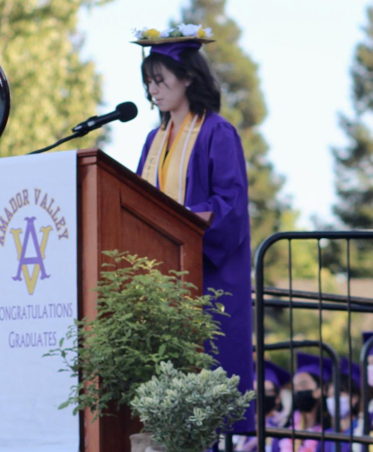 On her way to MIT, Valedictorian Jocelyn Zhu, speaks for the Amador class of 2021.