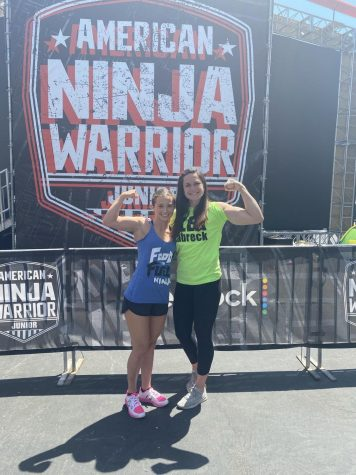 Emerson Muise (25) stands on the set of America Ninja Warrior.