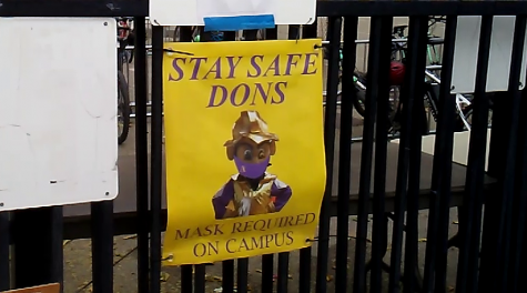 Signs posted around the school remind AV students to wear masks both indoors and outdoors.